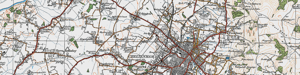Old map of Arle in 1919