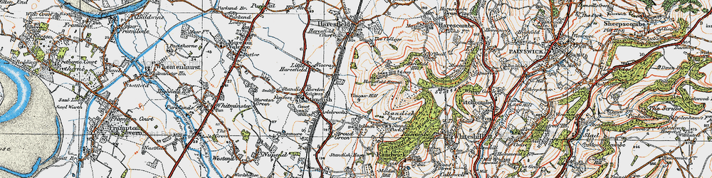 Old map of Arlebrook in 1919