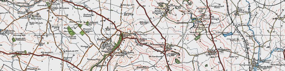 Old map of Arlescote in 1919