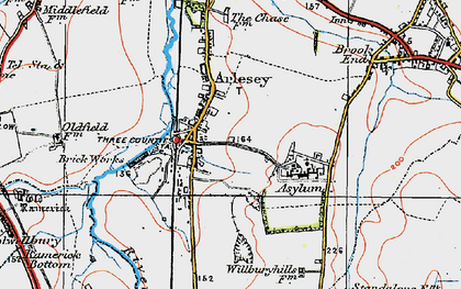 Old map of Arlesey in 1919
