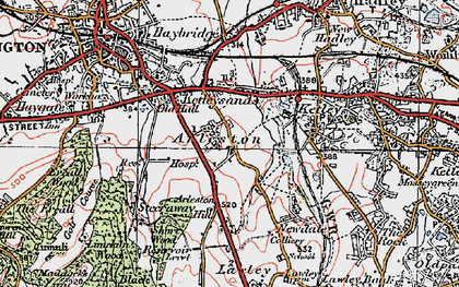 Old map of Arleston Hill in 1921