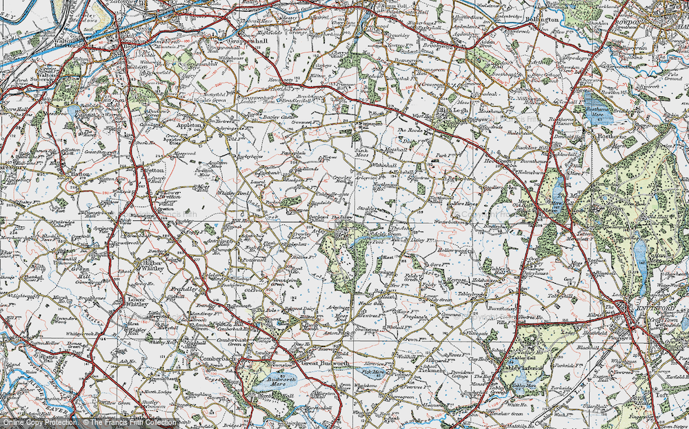 Old Map of Historic Map covering Badgers Croft in 1923