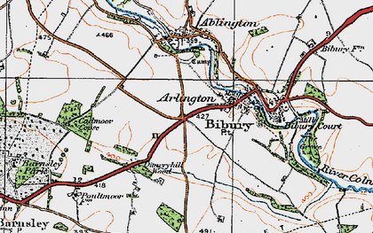 Old map of Arlington in 1919