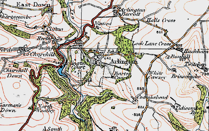 Old map of White Cawsey in 1919