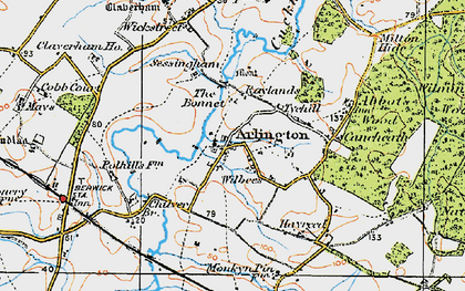 Old map of Tye Hill in 1920