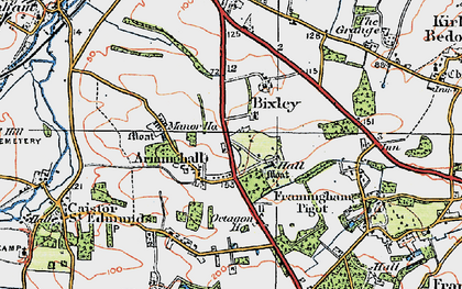 Old map of Arminghall in 1922
