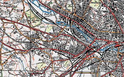 Old map of Armley in 1925