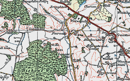 Old map of Armsdale in 1921