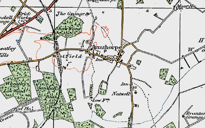 Old map of Armthorpe in 1923