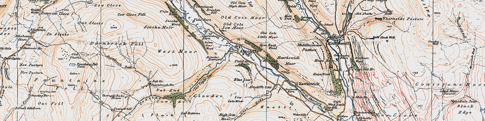 Old map of Arncliffe in 1925