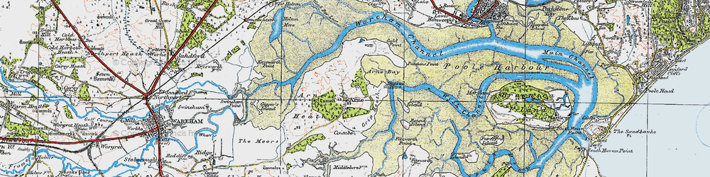 Old map of Wych Channel in 1919