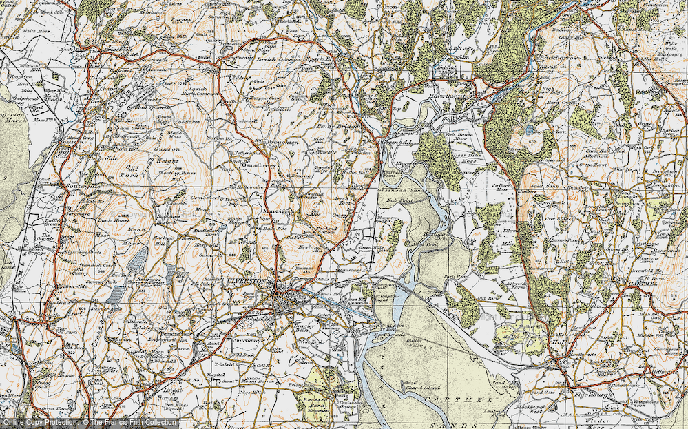Old Map of Arrad Foot, 1925 in 1925