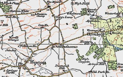 Old map of Arrathorne in 1925