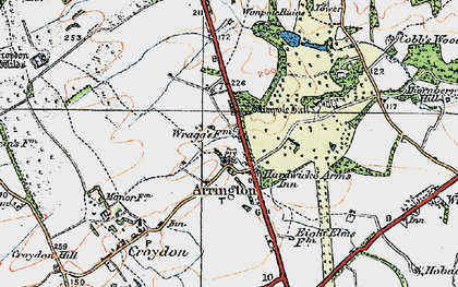 Old map of Arrington in 1920