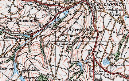 Old map of Arrunden in 1924