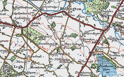 Old map of Arthill in 1923