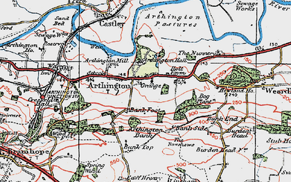 Old map of Bank Top in 1925