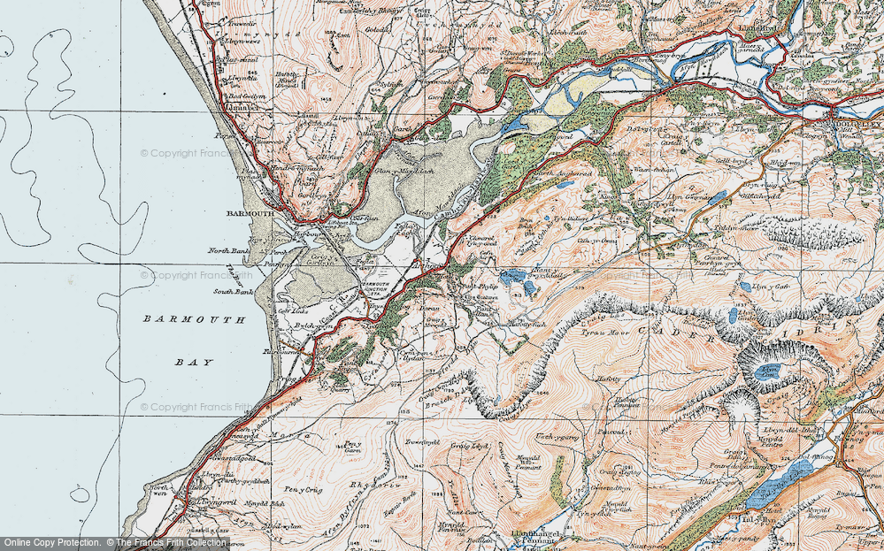 Old Map of Arthog, 1922 in 1922