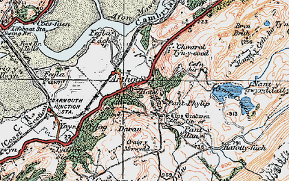 Old map of Arthog in 1922