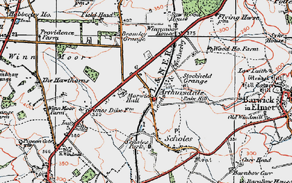Old map of Arthursdale in 1925