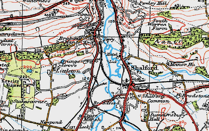 Old map of Artington in 1920