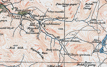 Old map of Badger Lodge in 1921