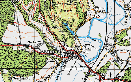Old map of Arundel Park in 1920