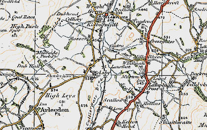 Old map of Asby in 1925