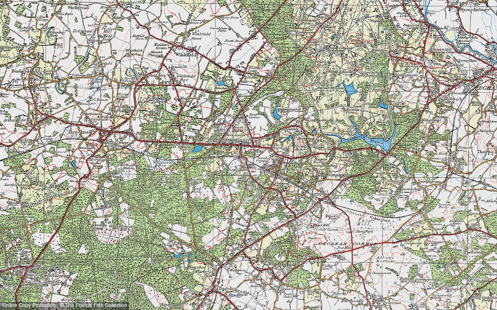 Old Map of Ascot, 1920 in 1920