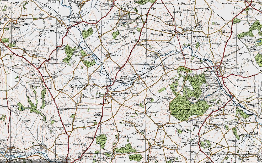 Old Map of Ascott Earl, 1919 in 1919