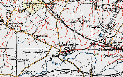 Old map of Asfordby in 1921