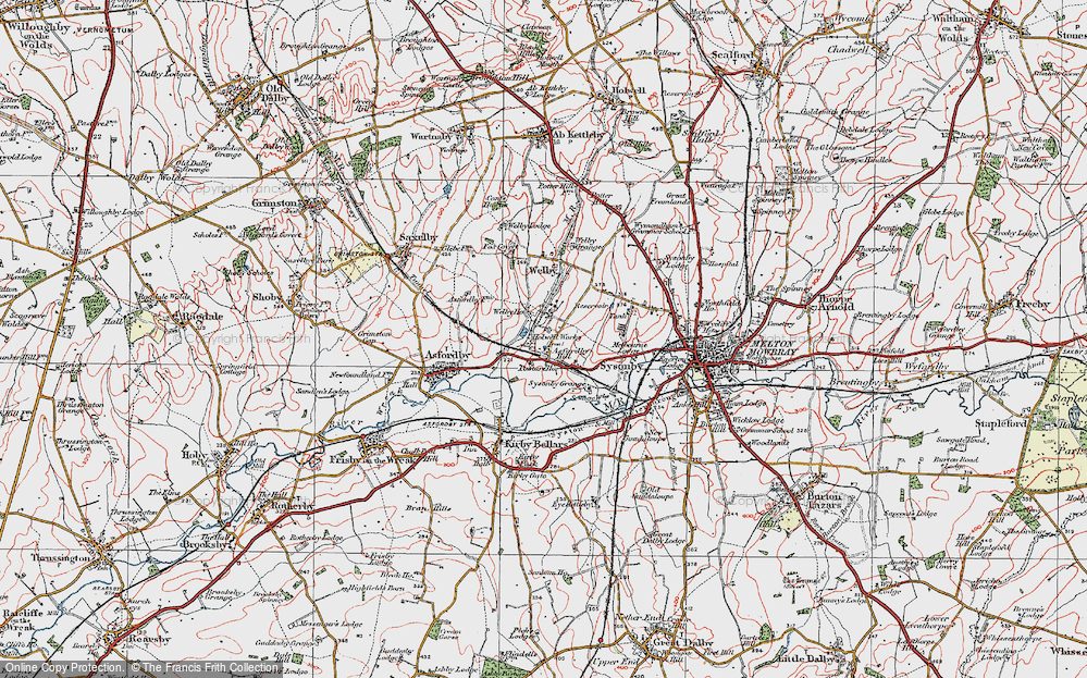 Old Map of Asfordby Hill, 1921 in 1921