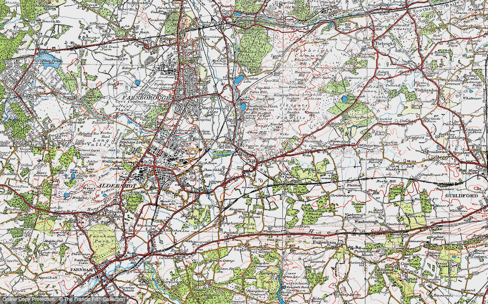 Old Map of Ash, 1919 in 1919