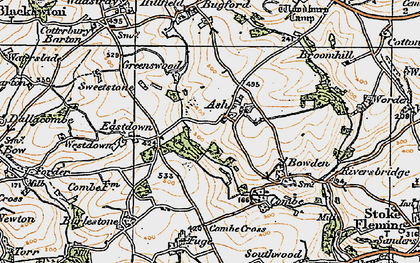 Old map of Ash in 1919