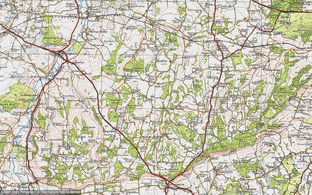 Old Map of Ash, 1920 in 1920