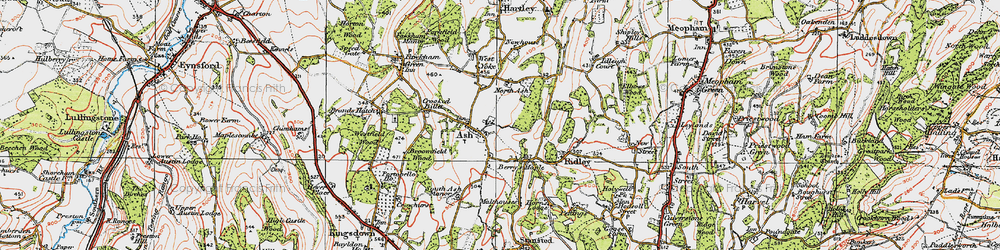 Old map of Ash in 1920