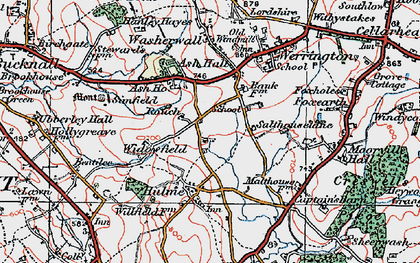 Old map of Ash Bank in 1921