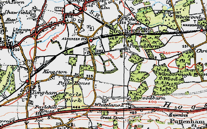 Old map of Ash Green in 1919