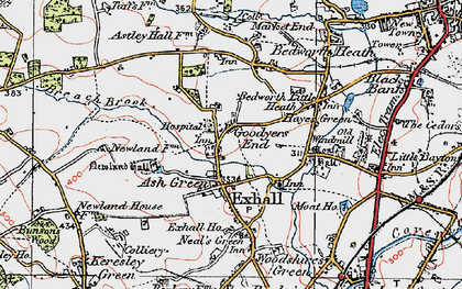 Old map of Ash Green in 1920