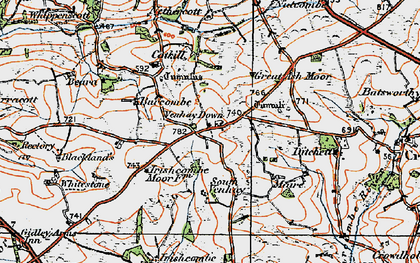 Old map of Ash Moor in 1919