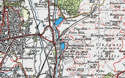 Old map of Ash Vale in 1919