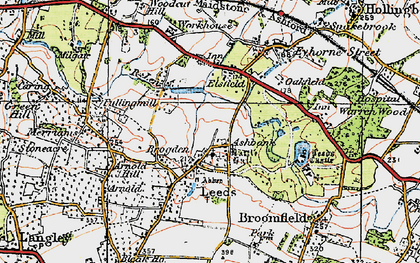 Old map of Ashbank in 1921