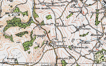Old map of Ashbeer in 1919