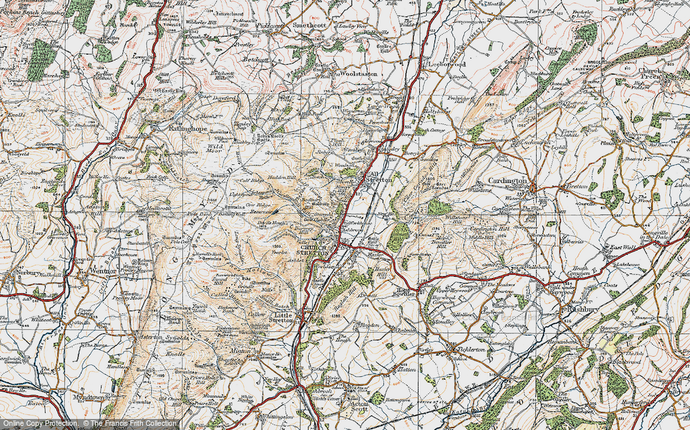 Old Map of Historic Map covering Woodnall in 1921