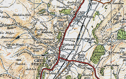 Old map of Ashbrook in 1921