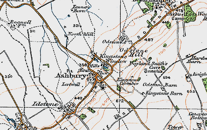 Old map of Ashbury in 1919