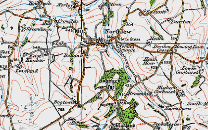Old map of Ashbury Plantations in 1919