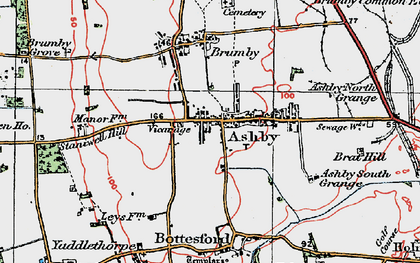 Old map of Ashby in 1923