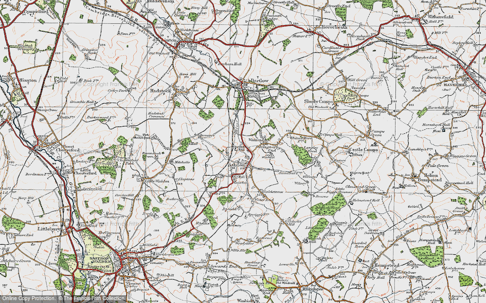 Old Map of Ashdon, 1920 in 1920