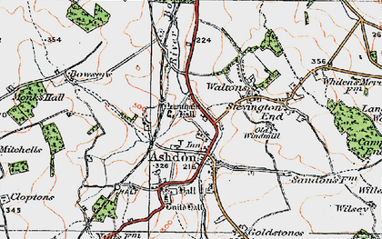 Old map of Ashdon in 1920